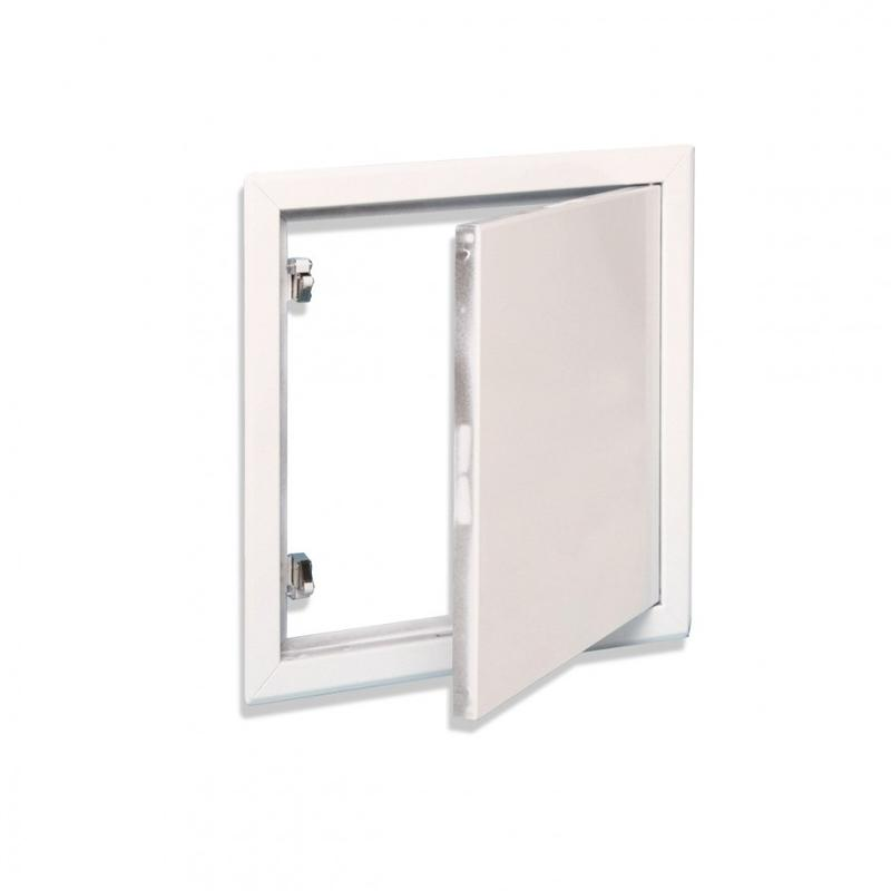 Trappe métallique laquée blanche - null