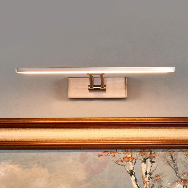 Nickel-coloured LED picture light Emilias - Wall Lights