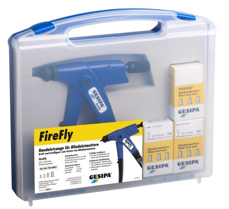 FireFly (Hand-Blindnietmuttern-Setzgerät) - Kraft und Intelligenz zum Setzen von Blinnietmuttern