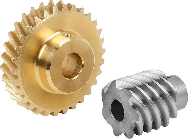 Worm gears, right-hand centre distance 31 mm - Worm screws and worm wheels