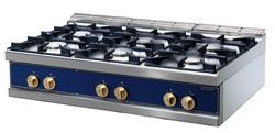 Cooking line 700 First Choice - cooking top, gas, 6burners/pilot flame - FAULTY