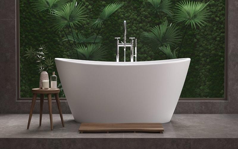 PureScape 748 Отдельностоящая Ванна - каменная, овальная, размер 155 x 88 x 73 см