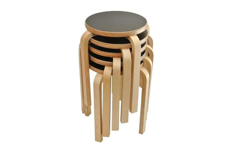 tabouret en bois empilable 58 mili noir mycreationdesign com france. Black Bedroom Furniture Sets. Home Design Ideas