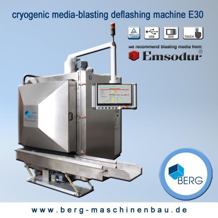 Installation d'ébavurage cryogénique E40 - pour l'ébavurage d'élastomères, plastomères, thermodurcisseurs & zinc moulé pres