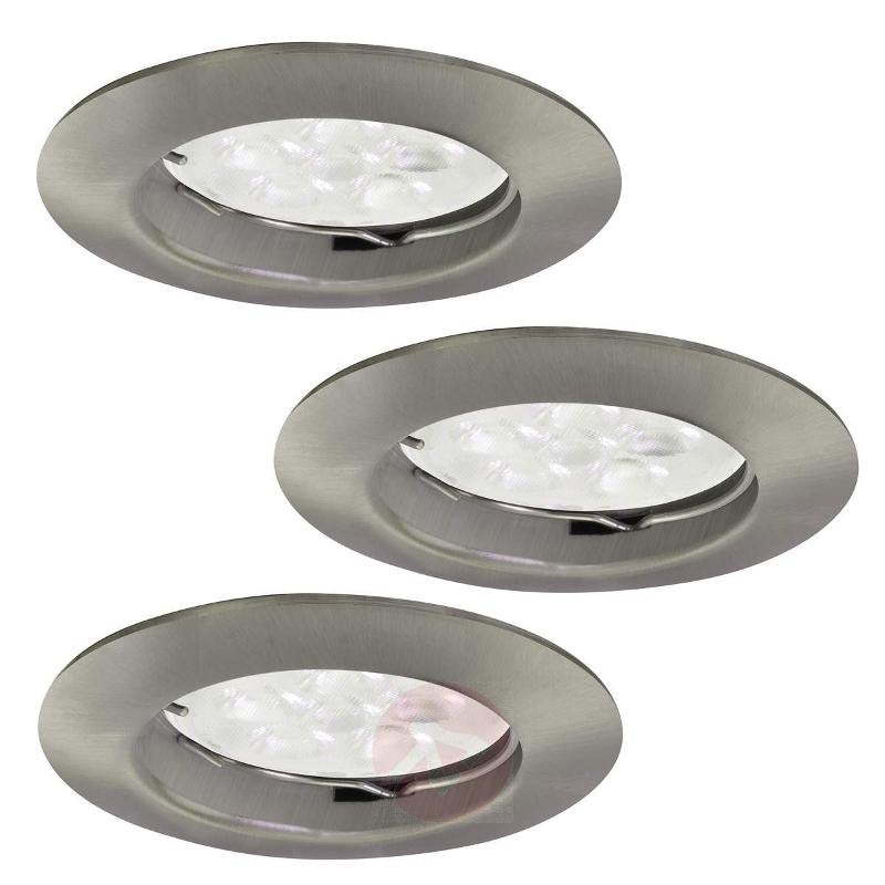 Set of 3 round LED Downlight DIMs - Recessed Spotlights