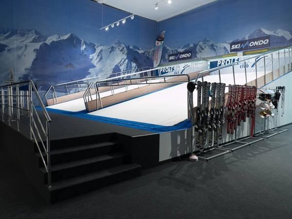 Indoor ski simulators
