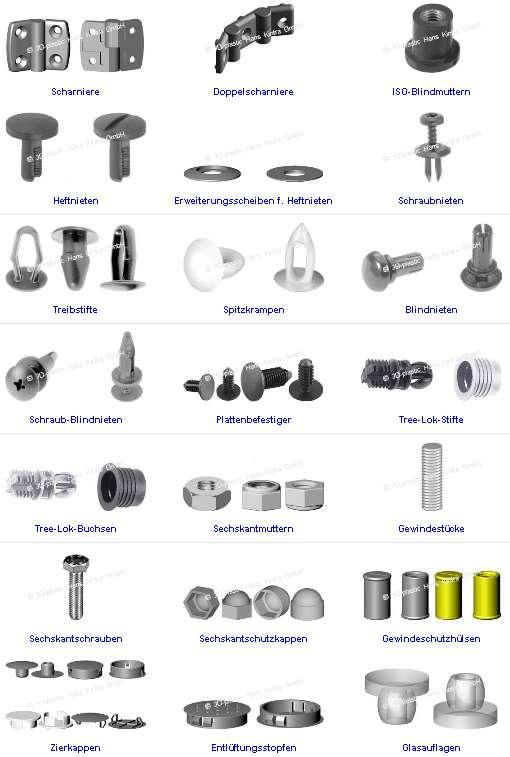 Zubehör für Schraub- und Stecksysteme, Accessories