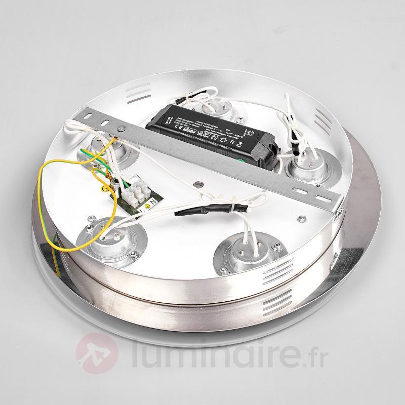 Plafonnier LED rond Lio à cinq lampes - Plafonniers LED
