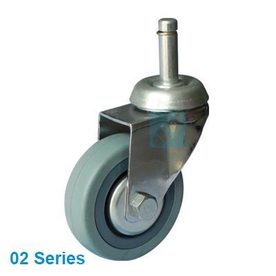 Grey Rubber Wheel Castor, loading 40 ~ 80 kgs