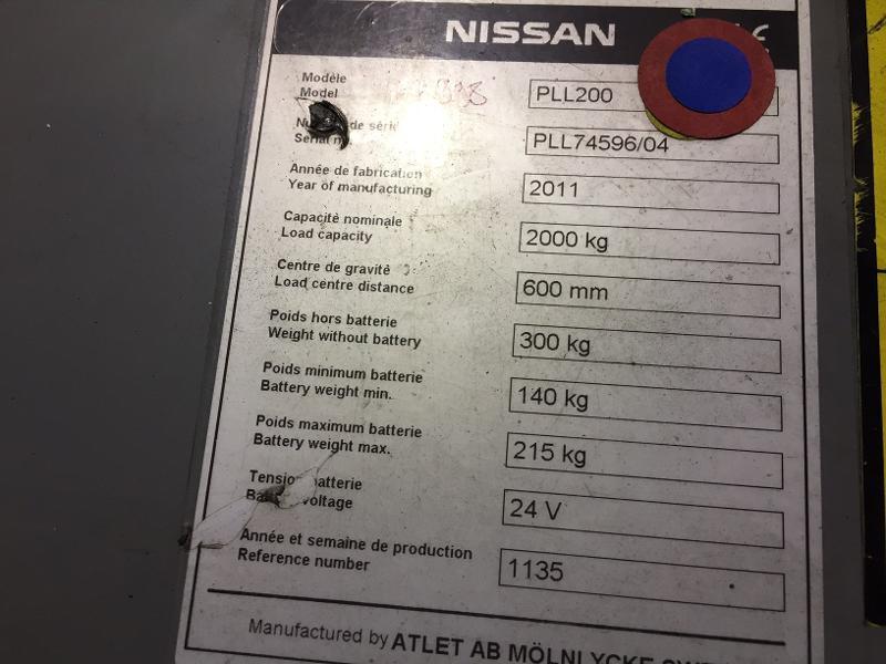 Transpalette accompagnant Nissan PLL200 - Matériels d'occasion