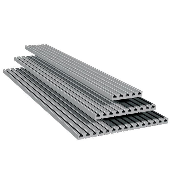 Т-образные плиты PT 25 - Т-образные пазы односторонние в 25 мм растр
