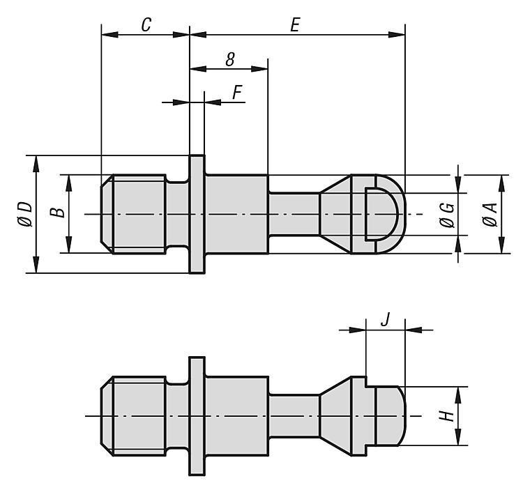Vis de serrage - Éléments de positionnement