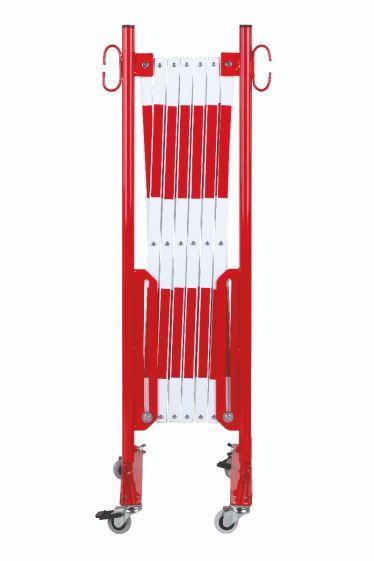 Barrière Extensible Rouge-blanc 3,6m Avec Rouleau - Barrières De Sécurité