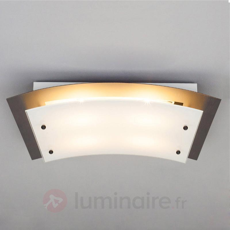 Plafonnier LED Riley couleur rouille, variable - Plafonniers LED
