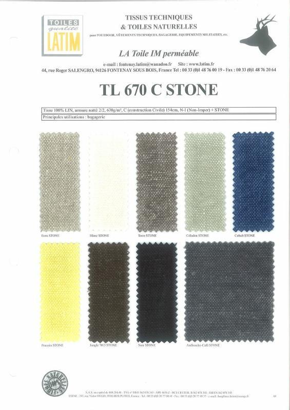 TL 670 C STONE - Toiles naturelles