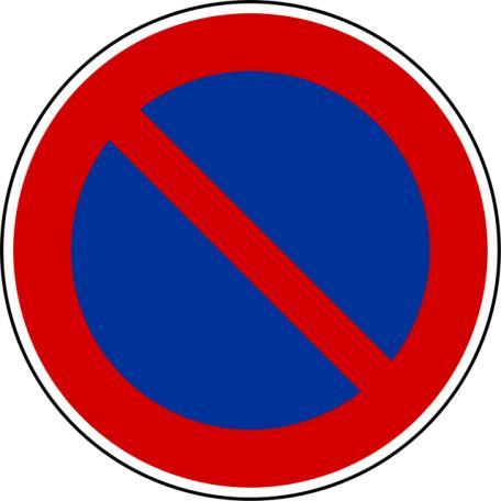 Panneaux B6a1, B6a2, B6a3 Stationnement Interdit Ou Réglementé (copier)  - Balisage De Chantier Et Panneaux Routiers