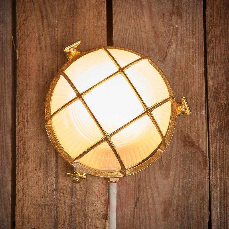 Bengt - outdoor wall light round brass - Outdoor Wall Lights