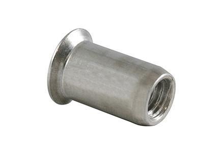 Blind Rivet Nut PARALLEL SHANK - blind rivet nut with parallel shank, open or closed end