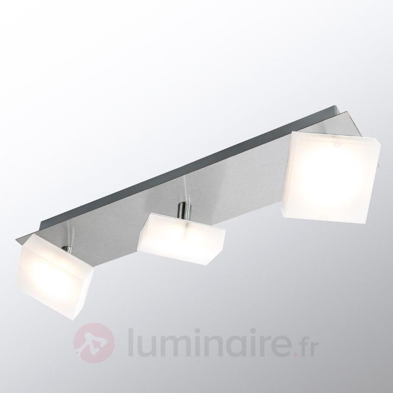Plafonnier LED allongé Denise, à trois lampes - Plafonniers LED