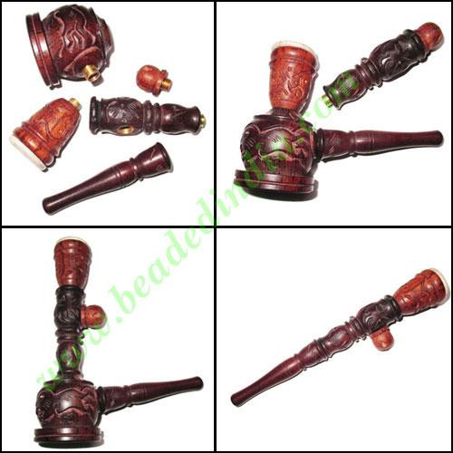 Handmade rosewood smoking pipe, size : 10 inch pipe - Handmade rosewood smoking pipe, size : 10 inch pipe
