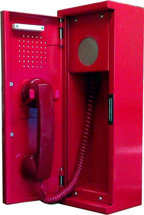 Fireman's Telephone - BS Compliant Fireman's Telephone Handset in Steel Enclosure