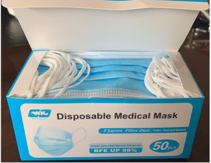 3-Schicht-Chirurgische Masken, Typ II (BFE ≥ 99%) - internationale Produktion