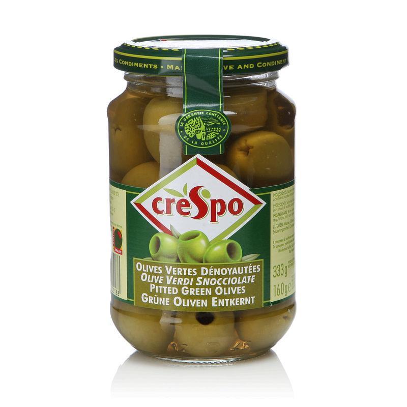 Olives vertes dénoyautées 160g - CRESPO - Olives vertes dénoyautées 160g - CRESPO