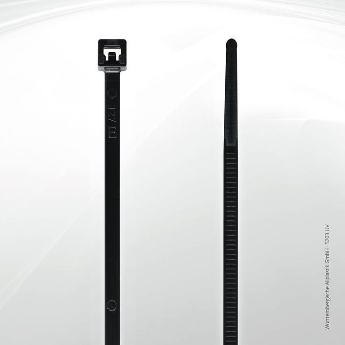 UV resistant cable ties Allplastik-Kabelbinder® - 5203 UV (black)