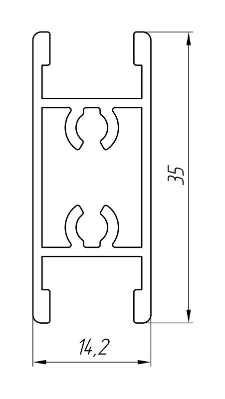 Aluminum Profile For Doors Ат-3032 - Interior aluminum profile