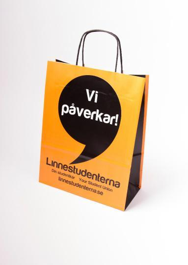 Paper bag with flexographic printing, - with a twisted paper handle