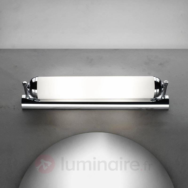 Applique à 2 lampes Elida éclairage durable - Appliques chromées/nickel/inox