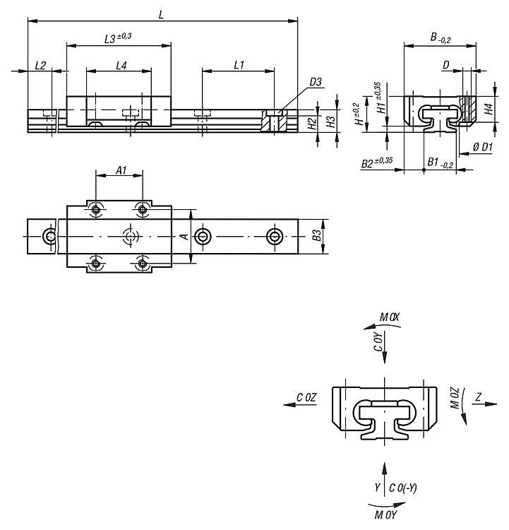 Miniature linear guides DryLin® T - Plastic slide guides