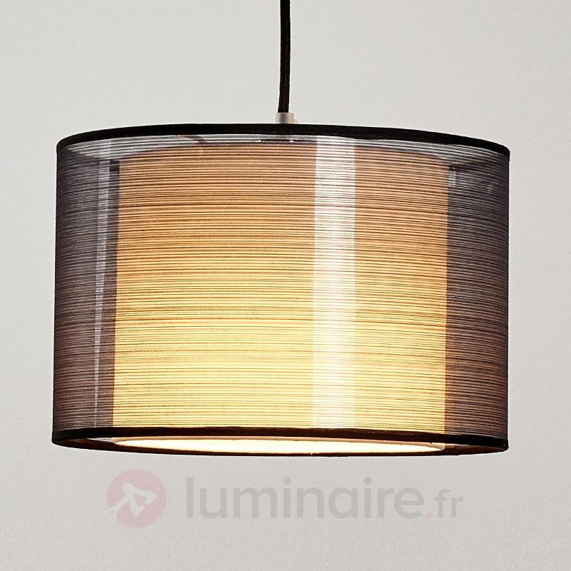 Suspension LED Jasna avec abat-jour en tissu - Suspensions en tissu