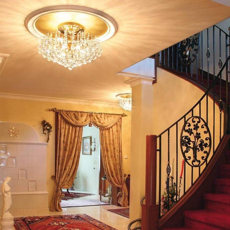 Lennarda Crystal Ceiling Light Golden 62 cm - Ceiling Lights