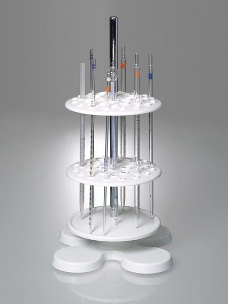 Pipette stand - Laboratory equipment, for up to 40 pipettes, innovative magnet concept