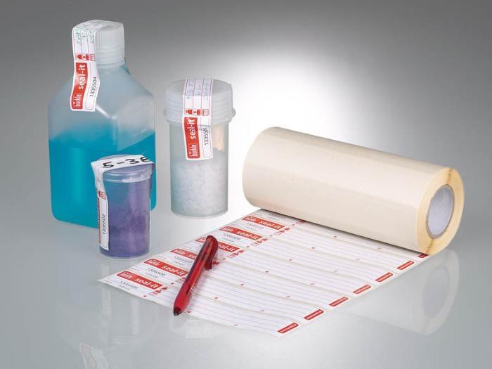 Scellés seal-it - Транспортировка образцов, контрольная этикетка