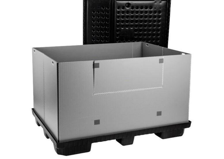 Grand bac pliable: Mega-Pack 1600 - Grand bac pliable: Mega-Pack 1600, 1600 x 1200 x 1000 mm