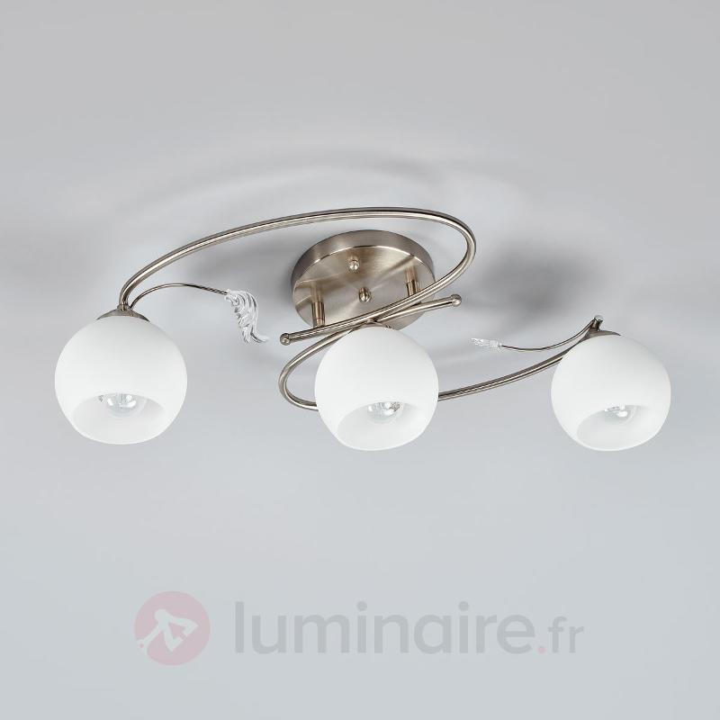 Plafonnier arqué Romantica - Plafonniers chromés/nickel/inox