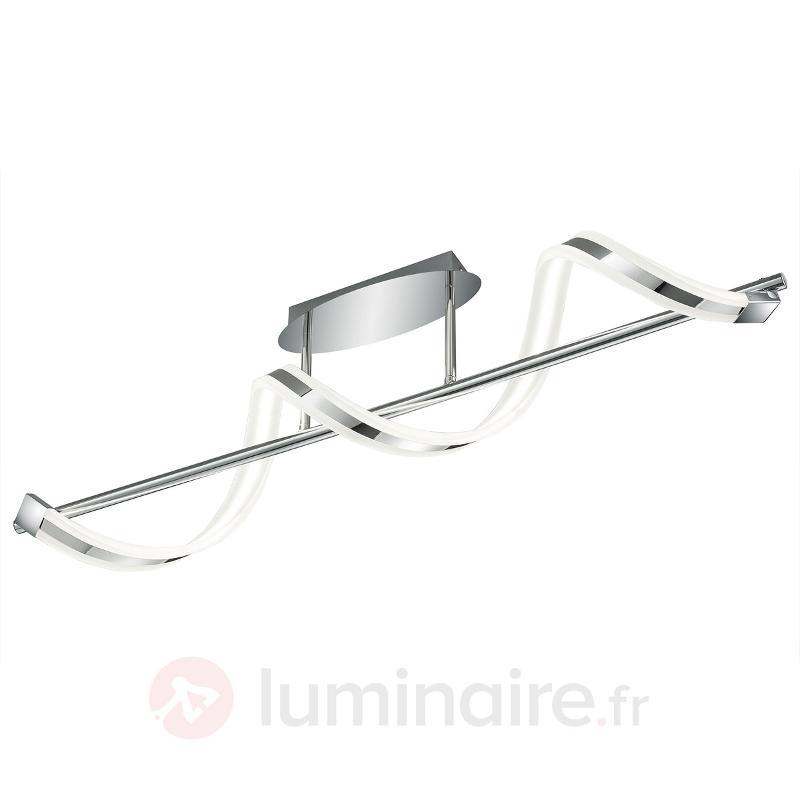 Plafonnier LED Sydney - Plafonniers chromés/nickel/inox