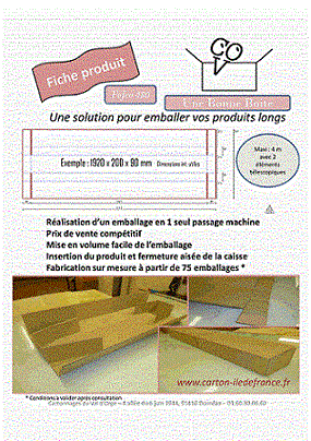 Emballage pour produits longs - Fefco 480