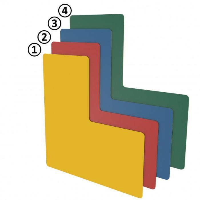 Floor Marking-shape and Floor Marking Window - stable floor marking, forklift-resistant, with outstanding adhesive strength