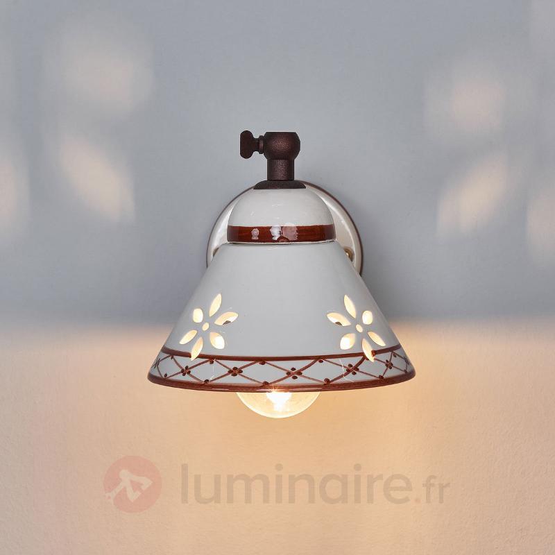 Applique en céramique Annabell spot - Appliques rustiques
