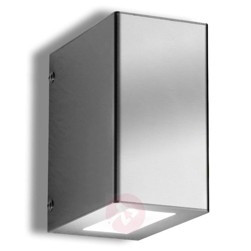 Aqua Play Downwards Emitting LED Ext. Wall Lamp - stainless-steel-outdoor-wall-lights