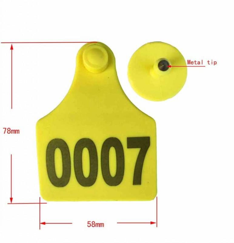 78*58mm TPU calf/cattle ear tag - cattle ear tag
