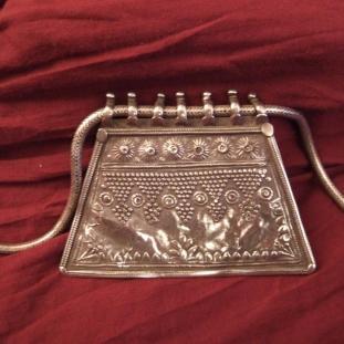 Colliers - Argent, plaque amulette, Inde