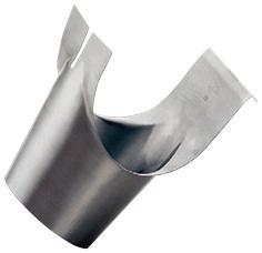Schrägstutzen – konischer Auslauf - halbrunde Rinne - Quartz-Zinc vorbewittert - Schrägstutzen