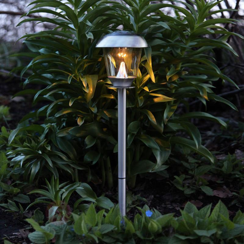 Belle lampe LED solaire Sarina inox 66 cm - Toutes les lampes solaires