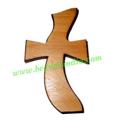Handmade wooden cross (christian) pendants, size : 44x26x4mm - Handmade wooden cross (christian) pendants, size : 44x26x4mm