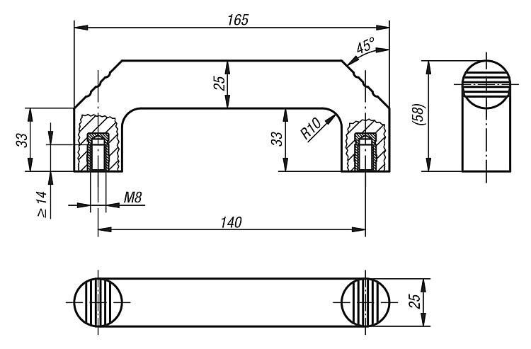 Pull Handles duroplast - K0188