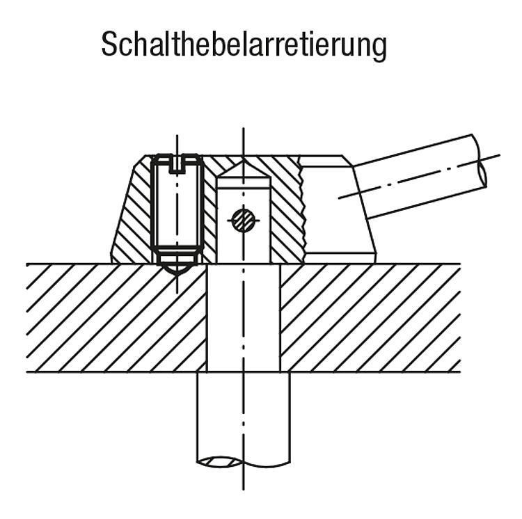 Flexibles Normteilesystem - Federnde Druckstücke mit Schlitz und Kugel, Stahl